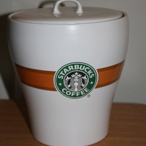 STARBUCKS Coffee Cannister Container Storage Ice B
